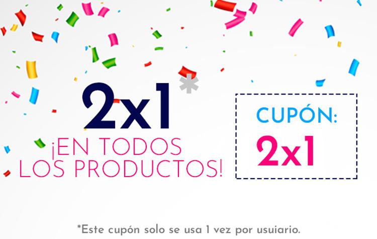 2x1 en todos los productos