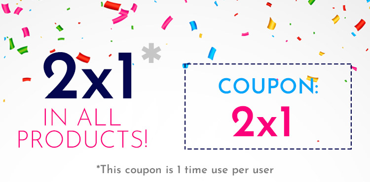 2x1 in all products